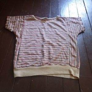 Striped Glitter Grunge Shirt Vintage Burn Out Punk